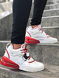 Мужские кроссовки в стиле Nike Air Force 270 (White/Red), Найк Аир Форс 270 (Реплика ААА), фото 2