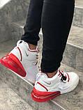 Мужские кроссовки в стиле Nike Air Force 270 (White/Red), Найк Аир Форс 270 (Реплика ААА), фото 3