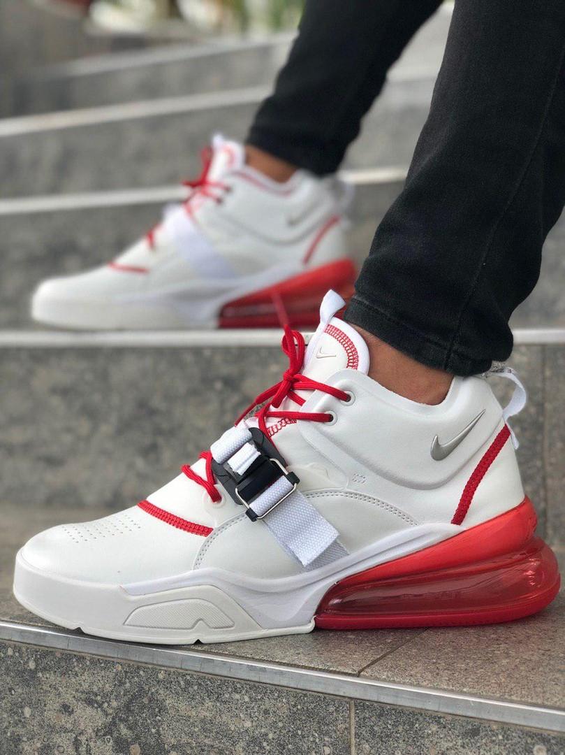 Мужские кроссовки в стиле Nike Air Force 270 (White/Red), Найк Аир Форс 270 (Реплика ААА)