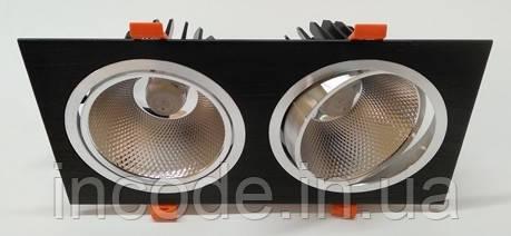 Встраиваемый LED светильник VL-402F 2х20W белый 40°
