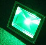 Светодиодный прожектор LED 100Вт 515-530nm (зеленый), IP65, фото 3