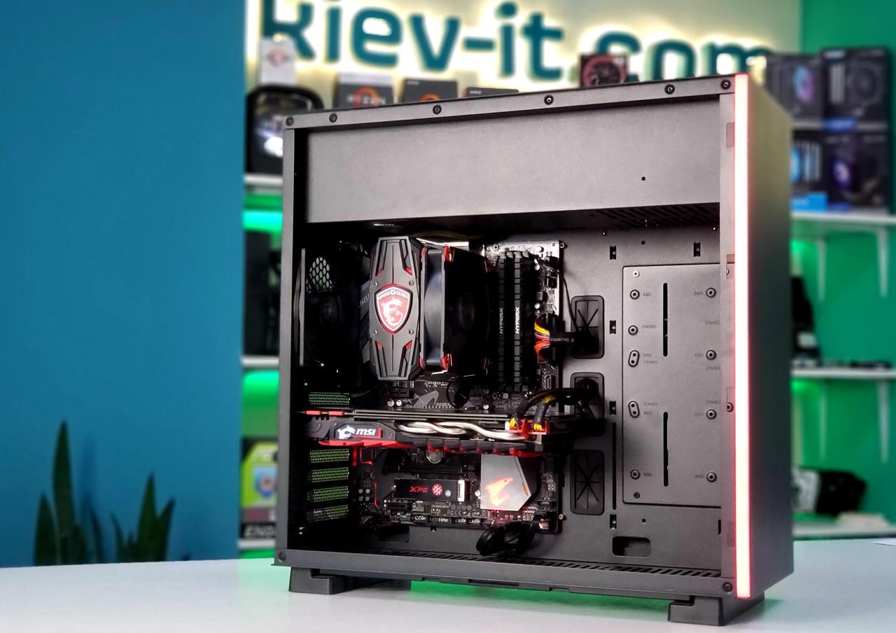 """Игровая сборка """"Fury Bull"""" Ryzen 7 3700X / X470 / GTX 1080 / DDR4 16GB / SSD NVMe 256GB / SSD 480GB / 700W Б/У"""