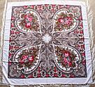 Павлопосадський вовняний платок 601014, фото 3