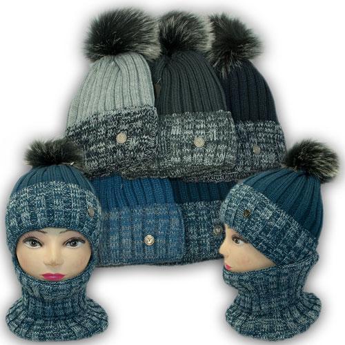 Комплект шапка и хомут для мальчика