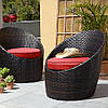 Набор стульев George Home 2 Jakarta Egg Bistro Chairs - Chilli Red.