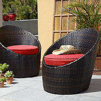 Набор стульев George Home 2 Jakarta Egg Bistro Chairs - Chilli Red., фото 1