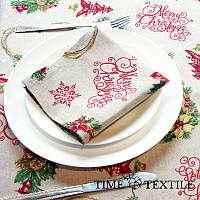 Новогодняя столовая салфетка Christmas Hearts 38х38 см