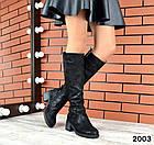 Демисезонные женские сапоги черного цвета, натуральная кожа  36 40 ПОСЛЕДНИЕ РАЗМЕРЫ, фото 5