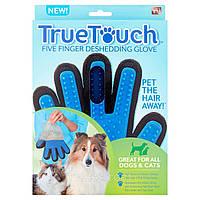 Перчатка для чистки животных True touch
