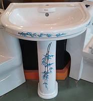 Раковина с пьедесталом Monaco VI3N (белый декоративный)