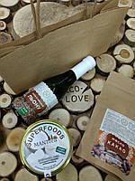 Съедобный подарочный набор.Масло льна, Кокосовое масло, Масло какао.