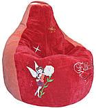 Бескаркасное Кресло-пуф груша мягкое детское, фото 3