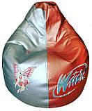 Бескаркасное Кресло-пуф груша мягкое детское, фото 5
