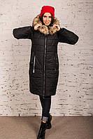 Зимнее женское пальто с экомехом энота сезона зима 2020 - (арт Дана к-12)