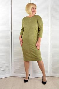 Платье оливоковое- Модель ЛМ423-2