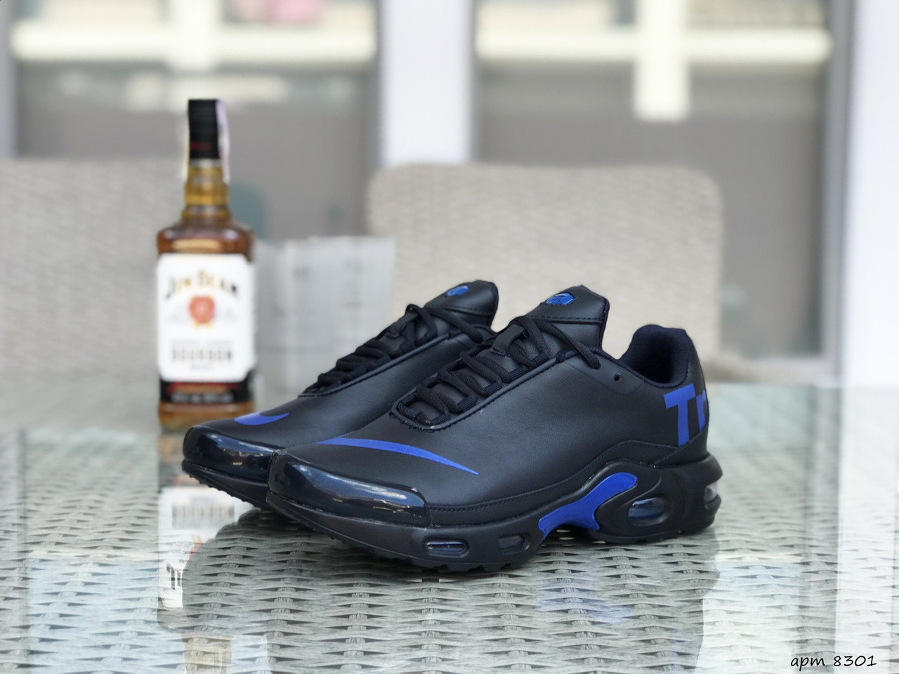 Мужские кроссовки Nike air max TN,темно синие с синим