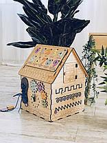 Бизиборд домик 45 х 32 х 32 см, фото 2