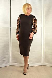 Платье темно-коричневое - Модель Л542-7