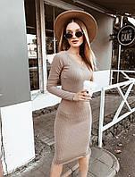 Платье / трикотаж рубчик / Украина 33-1043, фото 1