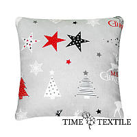 Декоративная подушка Merry Christmas серая