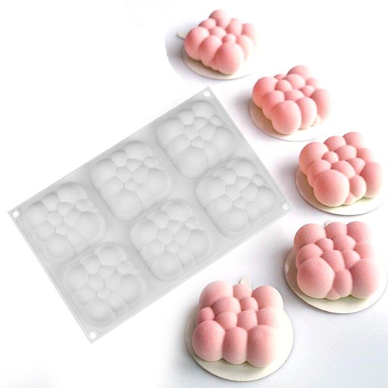 Форма силиконовая для евродесертов Облако из 6 шт
