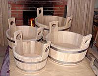 Шайка дубовая для бани и сауны - 15 литров
