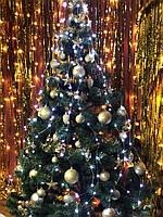 Новогодняя гирлянда на елку конский хвост «Белые огни», фото 1
