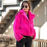 """Шуба Yavorsky жіноча стильна модна """"Автоледі"""" з еко хутра кролика різні кольори GY231, фото 1"""