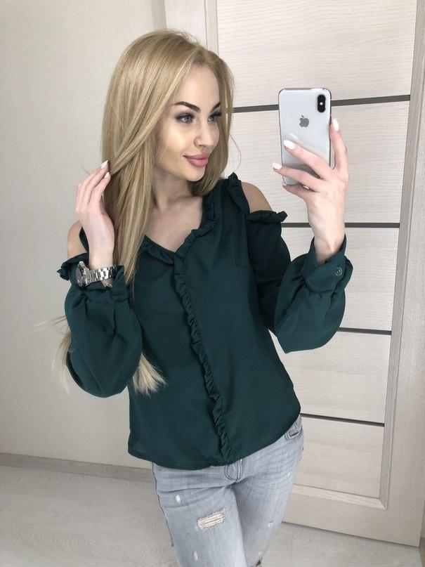 Женская рубашка креп шифон 42-46 рр.