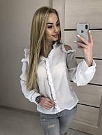 Женская рубашка креп шифон 42-46 рр. черная белая красная, фото 1
