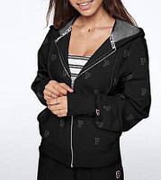 Спортивная Кофта Victoria's Secret PINK Full-Zip XS, Чёрный