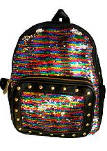 Рюкзак женский с пайетками перевертышами
