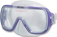 Маска для юных дайверов Интекс, с защитой от волн, сплошной иллюминатор, термопластиковый корпус, 2 цвета