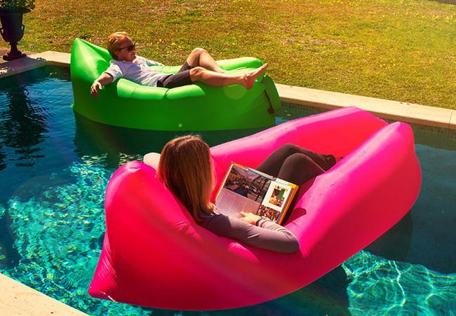 Ламзак Надувной шезлонг диван мешок 210 x 70 cm Lamsac Розовый