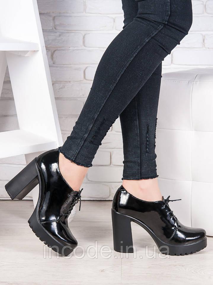 Шкіряні туфлі на підборах 6988-28