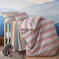 Комплект постельного белья Time Texstile Rainbow zigzag Полуторный