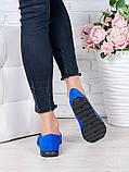 Туфли мокасины электрик замша 7046-28, фото 4