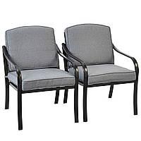Набор садовых стульев George Home 2 Haversham Classic Dining Chairs Charcoal, фото 1