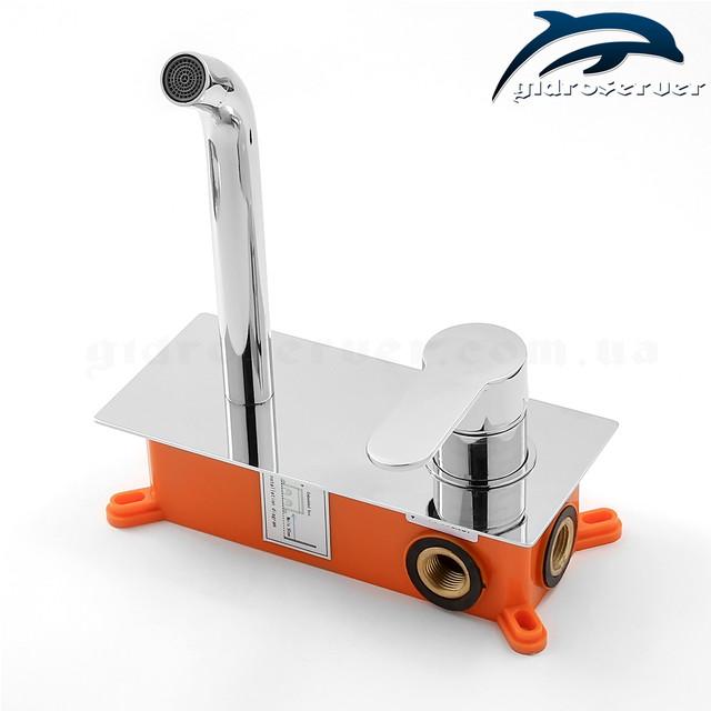Встраиваемый смеситель для раковины SGR-01 с пластиковым монтажным боксом (iBox).
