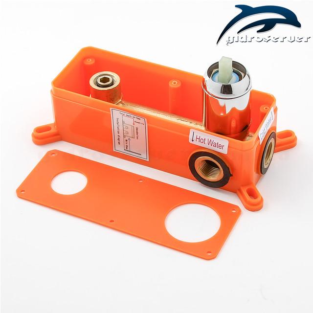 Скрытого монтажа смеситель для раковины SGR-01 с горизонтальной установкой в стену ванной комнаты.