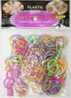 """Набор 200 резинок для плетения 200шт с инструментами """"Разноцветные"""" уп12"""