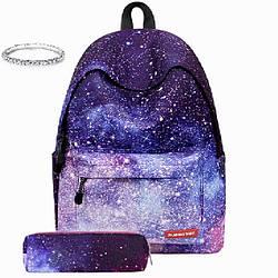 Школьный рюкзак Космос с пеналом