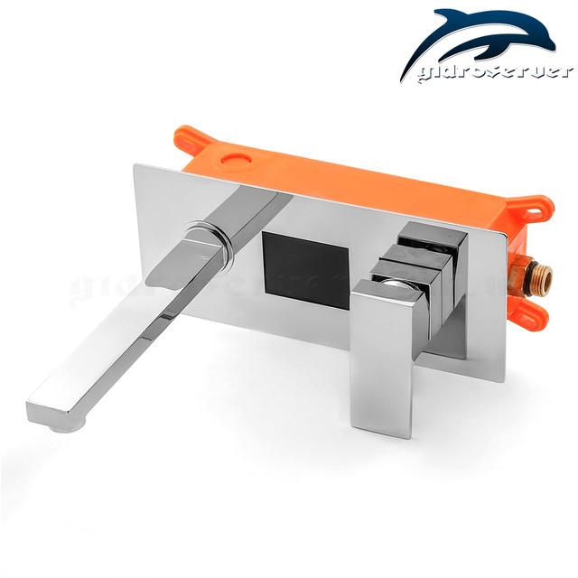 Смеситель для умывальника скрытого монтажа KGRL-01 латунный с цифровым экраном.