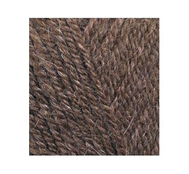 ALPACA ROYAL 687 коричневый меланж - 30% альпака, 15% шерсть, 55% акрил