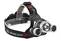 Налобный фонарь Police RJ-3000 (Cree T6+2Q5, 1600 люмен, 4 режима работы, 2х 18650)