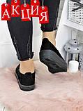 АКЦИЯ!!! слипоны черная замша 7131-28, фото 4