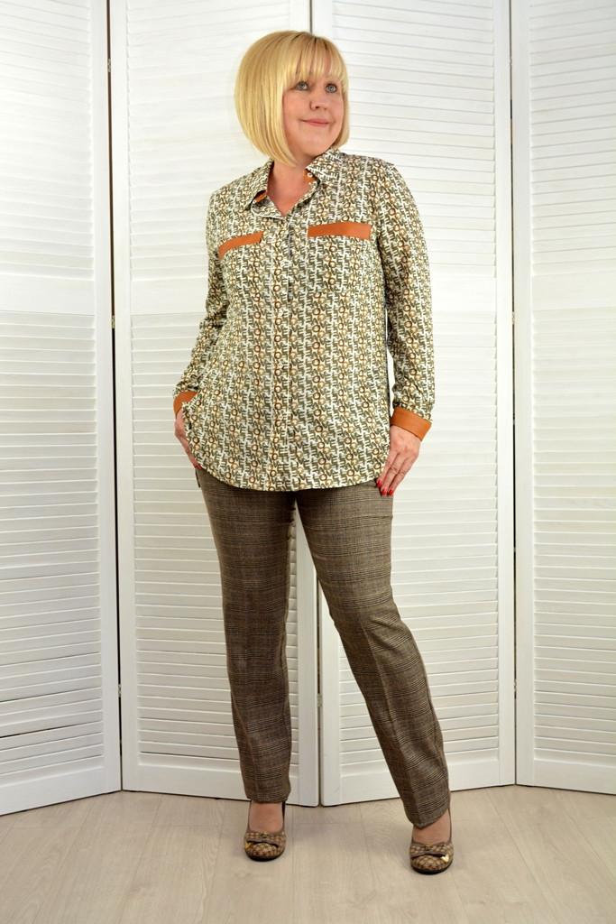 """Блузка-рубашка """"Офис"""" - Модель 1677-5"""