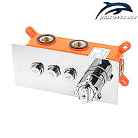 Смеситель для скрытого монтажа термостатический GTB-03 с переключателем на три режима работы., фото 1