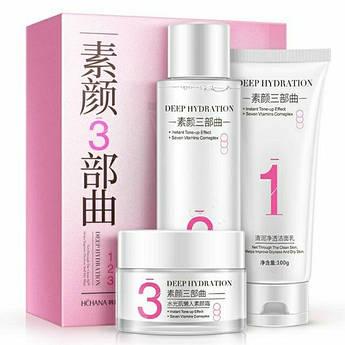 Набір глибоко воложить косметики для особи Hchana Deep Hydration 3 in 1 Skin Set