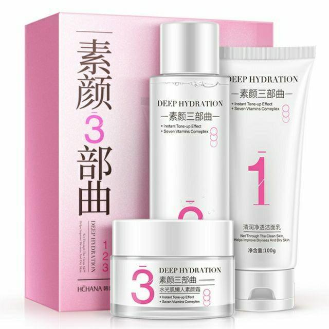 Набор глубоко увлажняющей косметики для лица Hchana Deep Hydration 3 in 1 Skin Set